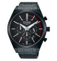 Brand Pulsar Gents Chronograph Black Dial Bracelet Watch Pt3705x1
