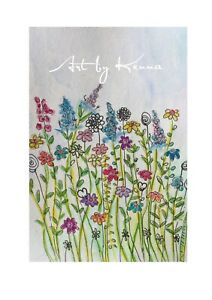 Whimsy-Wild-Flowers-Watercolour-Painting-By-Kenna-12cm-X-16-Unframed-Original