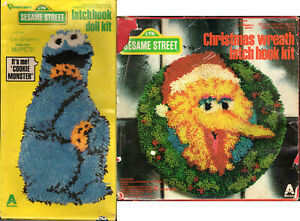 Details about CHOICE: Vintage SESAME STREET Latch Hook Kits Vogart Crafts  Projects Started