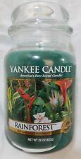 Yankee Candle Rainforest Large Jar 22oz  Free Ship Green Jungle Tropical