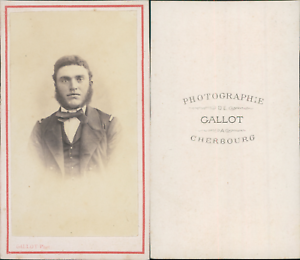 Gallot-Cherbourg-Portrait-homme-en-uniforme-circa-1870-CDV-vintage-albumen-ca