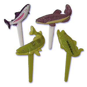 New Puffy Fish Cupcake Picks One Dozen Fishing Rodeo