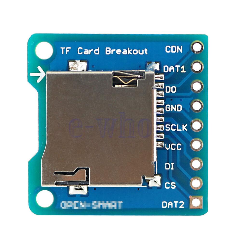 New Blue + Silver Micro SD /TF Card Breakout Transfer Board