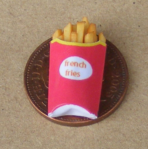 1:12 Scale Single Take Away Packet Of French Fries Tumdee Dolls House Chips Si