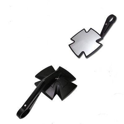Motorrad Lenkerendenspiegel IRON CROSS Aluminium Kopf schwarz eloxiert f/ür 1 25,4mm und 7 //8 Zoll 22mm Lenker E-gepr/üf