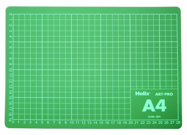 Helix A4 Cutting Mat Craft Board Self Healing Double Sided Printed Grid Lines