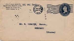 Entier-Postal-Maritime-Steamer-SS-La-Lorraine-New-York-United-State-Cover