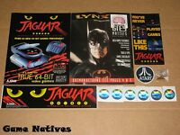 Atari Jaguar & Lynx Memorabilia - Stickers, Pin, Patch + Free Shipping