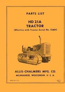 ALLIS-CHALMERS-HD-21-A-HD21-A-Tractor12801-Parts-Manual