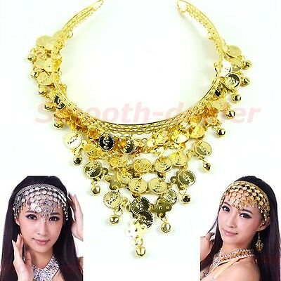New Stylish Belly Dance Costume Dancing Coin Sequins Hair Headbands Band
