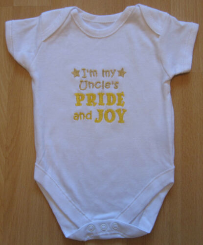 I/'m My Uncle/'s Pride And Joy Baby Vest Grow Babies Clothes Funny Gift Boy Girl