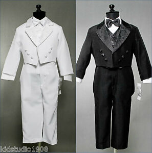 NEW-BOYS-JACQUARD-TUXEDO-WITH-TAIL-BLACK-OR-WHITE-RECITAL-WEDDING-FORMAL-SUIT