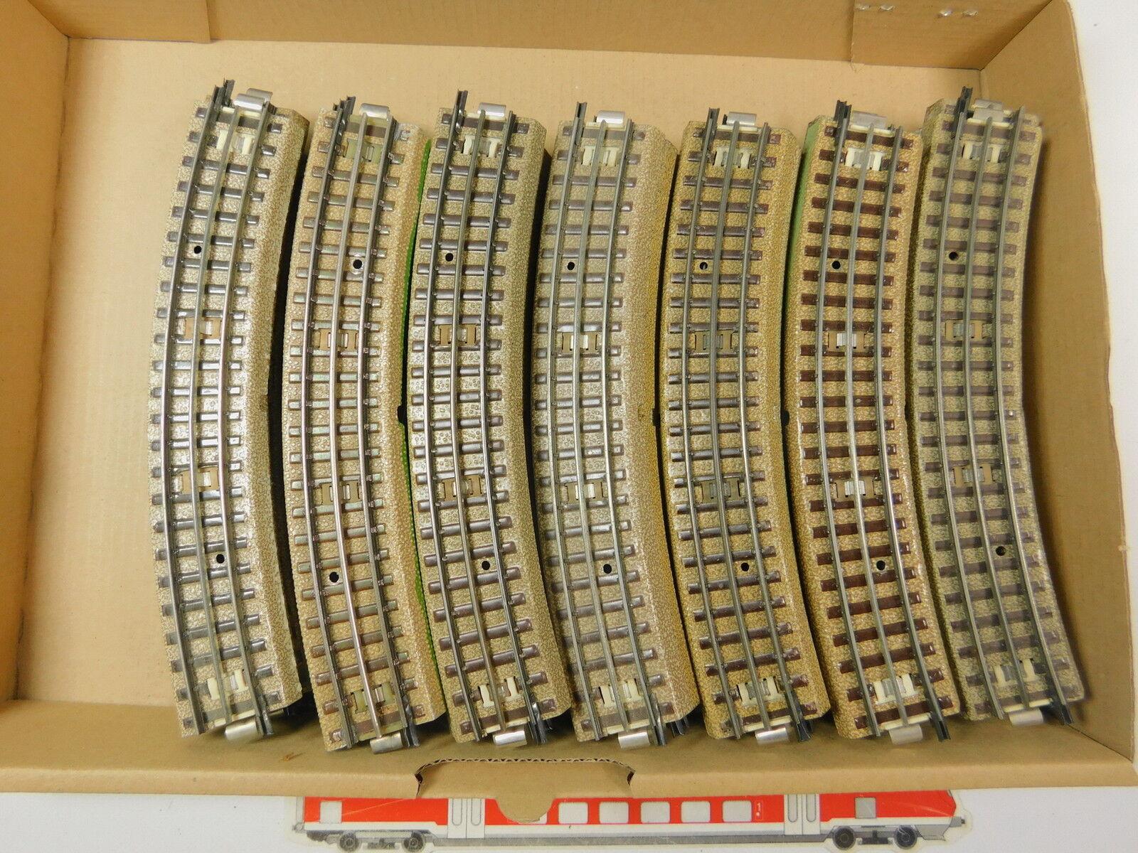 Ar529-2  35x   h0/00/ac pezzo di binario curvo M-Binario 3600/800/capo fondi