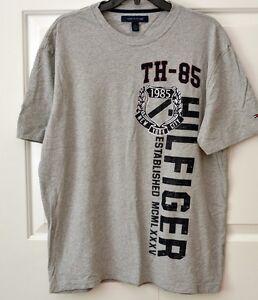 80s Tommy Hilfiger Men s L T-Shirt TH-85 New York City Gray  39600679b78