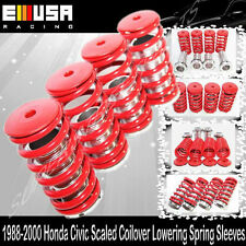 EMUSA Coilover Lowering Coil Springs Set FOR 90-01 Accord RED/SILVER