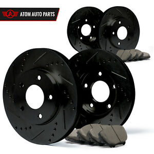 Front-Rear-Rotors-w-Ceramic-Pads-Elite-Brakes-Fits-2013-2014-2015-Veloster