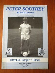 Tottenham v Fulham football programme 1984 Peter Southey memorial - Oxford, Oxfordshire, United Kingdom - Tottenham v Fulham football programme 1984 Peter Southey memorial - Oxford, Oxfordshire, United Kingdom