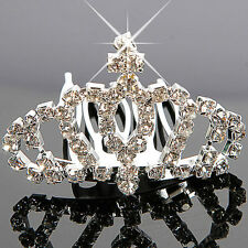 Lovely Cute Mini Rhinestone Crown Wedding Bridal Tiara Bridal Hair Comb Pin