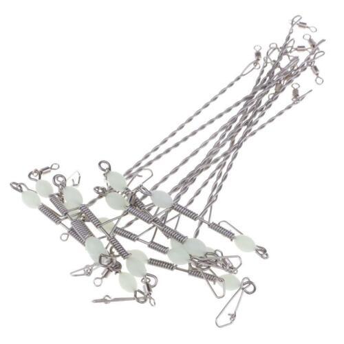 10x Angeln 3 Wege Rolling Wirbel Dreifach Wirbel Haken Schnur Verbinder