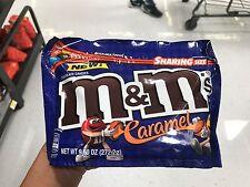 NEW M&M's Caramel Chocolate Candy Big Bag 9.60 OZ 262.2 g Resealable Bag