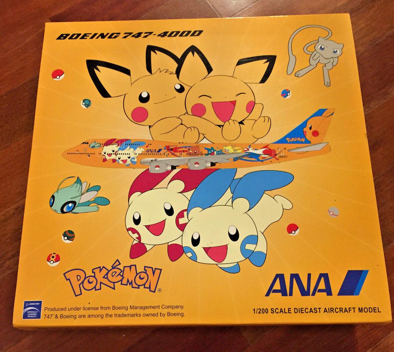 marcas en línea venta barata Jc Wings Wings Wings 1 200 XX2154 ANA All Nippon B747-400 Pokemon JA8957  el mas reciente