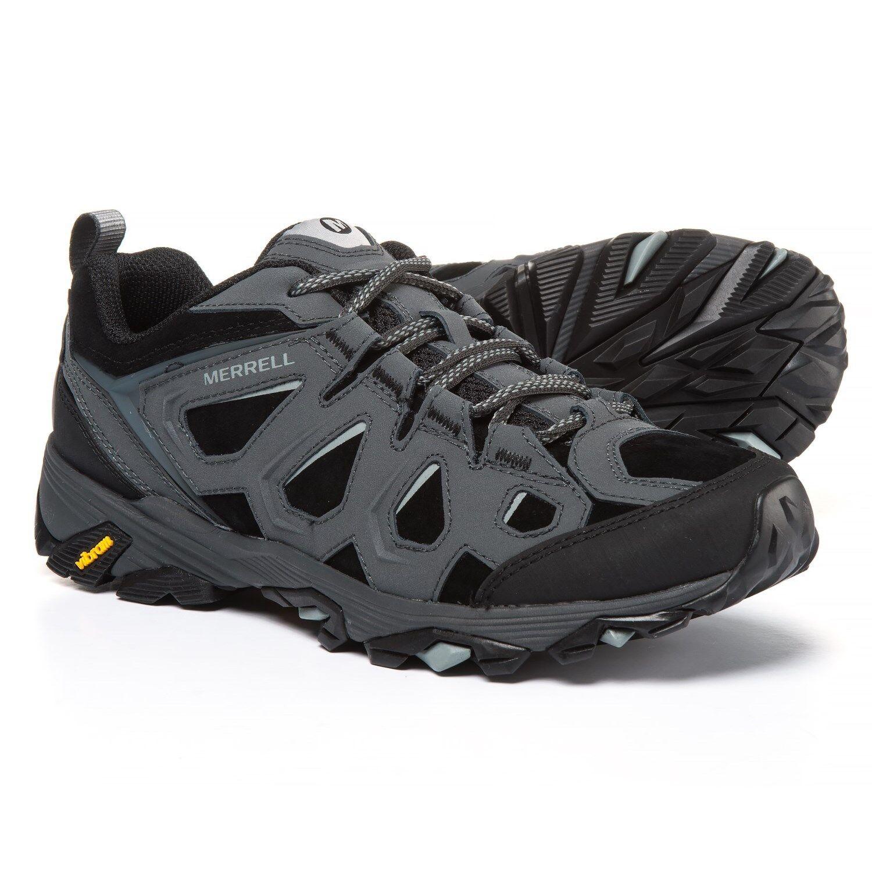 Merrell Moab FST Cuero Impermeable Senderismo (7, 7.5, 8) Negro del granito J37517