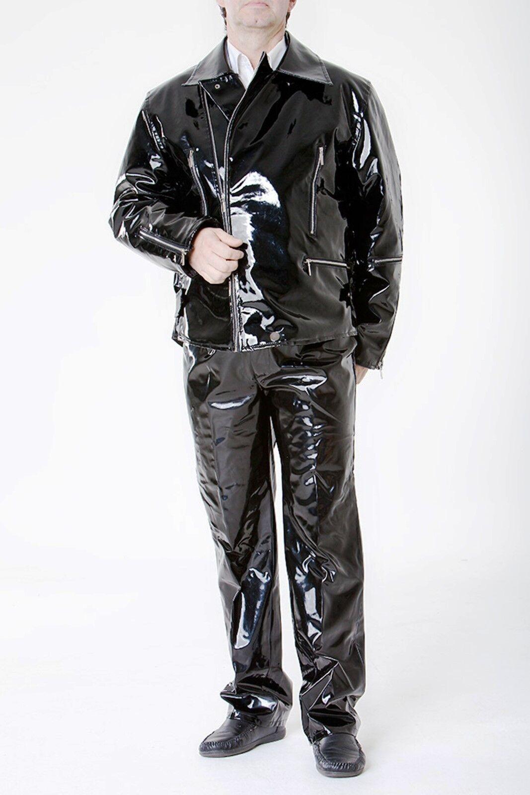 Lackina-verni BIKE veste pour taille lui, avec doublure taille pour M - 4xl b4db0a