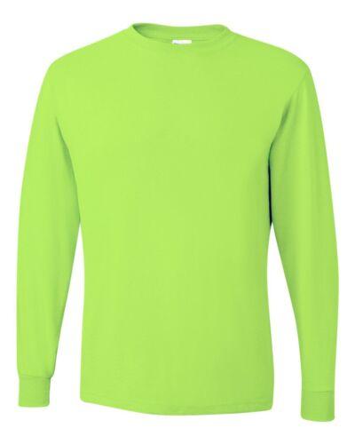 JERZEES Heavyweight Blend 50//50 Long Sleeve T-Shirt 29LSR Cotton//Polyester S-3XL