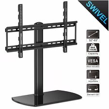 """Table Top Swivel TV Stand With Mount For 32/"""" 37/"""" 45/"""" 50/"""" 55/"""" 60/"""" Flat Screen"""