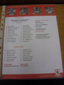 14-03-2009-Colour-Teamsheet-Middlesbrough-v-Portsmouth-Thanks-for-viewing-ou