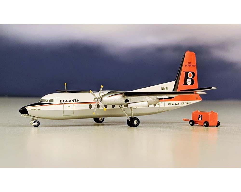 AEROCLASSICS BONANZA F-27  N147L w voituret 1  200 Scale AC219365  grande remise