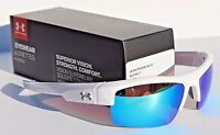 Under Armour Igniter Sunglasses Shiny White/blue Multi Sport/cycle $100