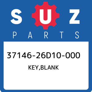 37146-26D10-000-Suzuki-Key-blank-3714626D10000-New-Genuine-OEM-Part