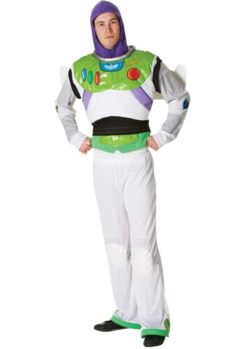 Mens Licensed Buzz Lightyear Toy Story Disney Fancy Dress Costume Adult Outfit