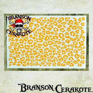 Brillant Leopard Pochoir Feuille | Haute Chaleur Vinyle | Pistolet Pistolet Arme à Feu Cerakote | Cheetah-afficher Le Titre D'origine