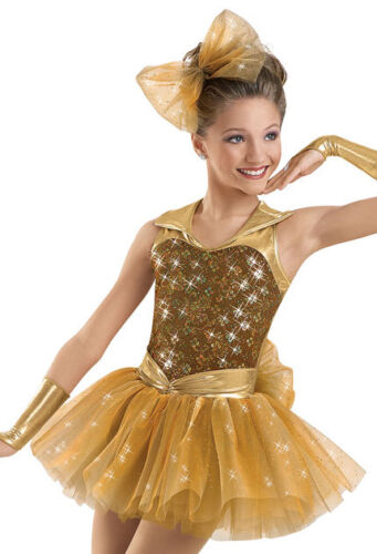 "NEW Weissman /""Entertainment/"" Dance Costume Skate Dress 6032 SA Adult Ballet"