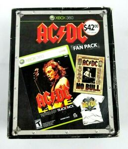 XBox-360-AC-DC-Live-Black-Ice-Fan-Pack-Game-T-Shirt-DVD-Sealed-NEW