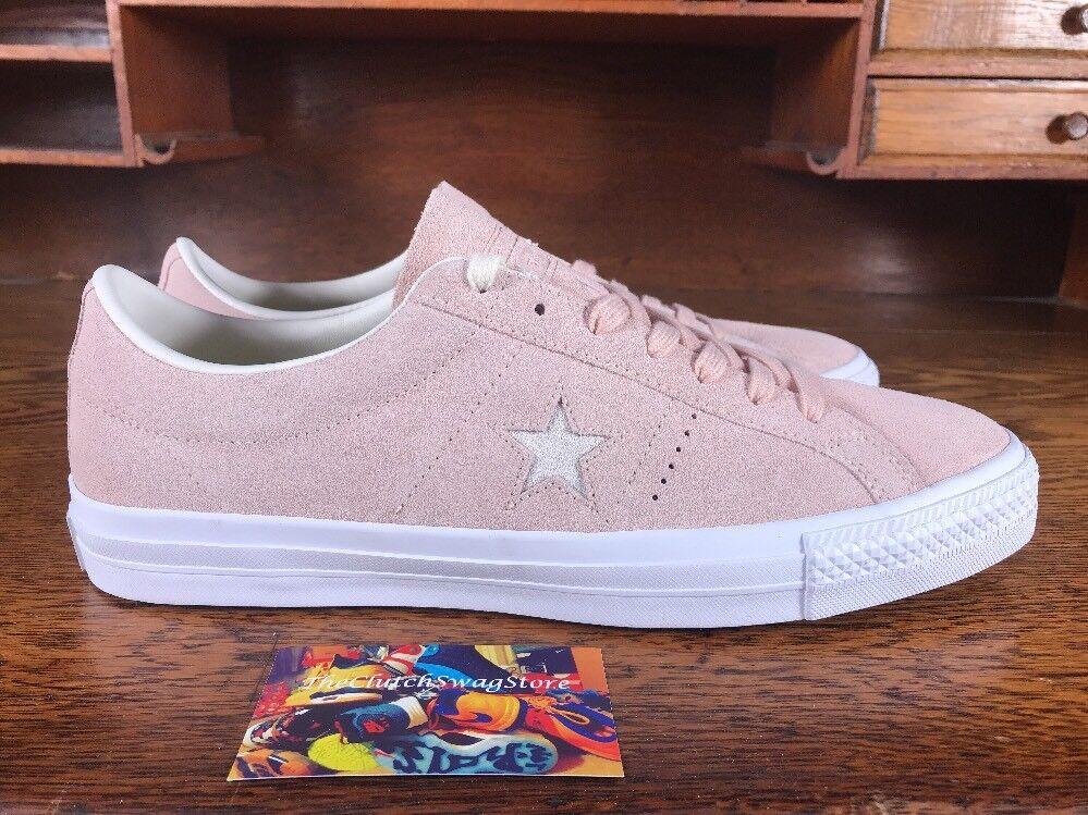 Converse One Star Pro Ox Uomo Pink/White Skate Skate Skate Shoe 157892C w/ Lunarlon Size 11 e18919