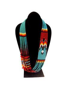 NE703-Fine-Glass-Beaded-Rising-Thunderbird-Phoenix-Necklace-Crystal-Handmade
