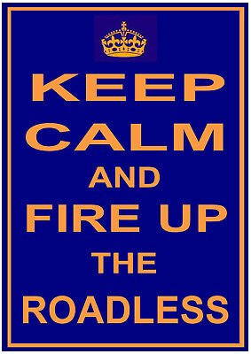 """/""""KEEP CALM/"""" funny METAL SIGN PLAQUE gift idea ROADLESS TRACTOR Ford or Fordson"""