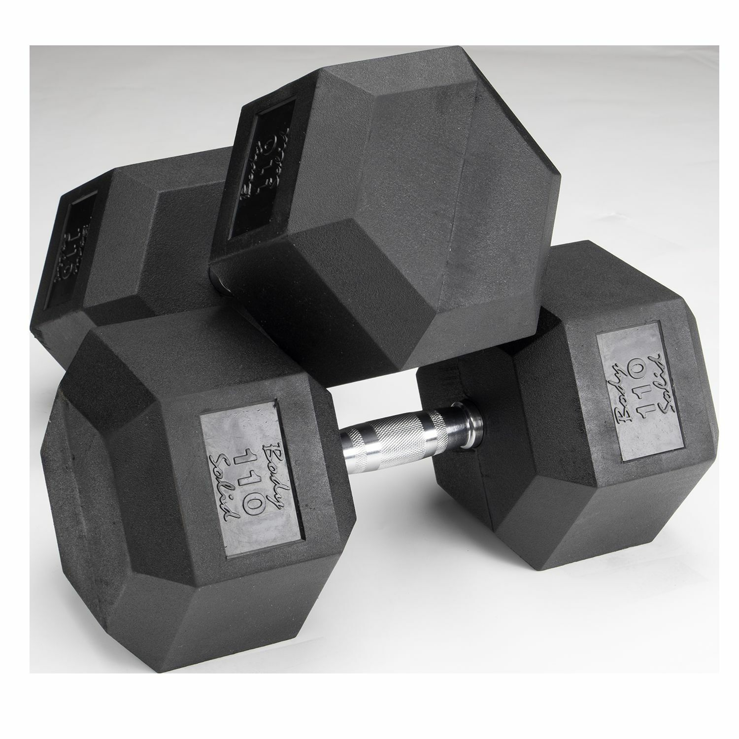 110 lb. Rubber Coated Dumbbell Pair, Body-Solid SDR110