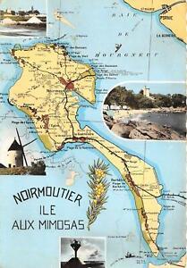 br108489 noirmoutier ile aux mimosas france map carte ...