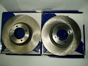 BTB387 MGB PAIR FRONT BRAKE DISC ROTORS  X 2 MADE IN ENGLAND  1962 TO 1980
