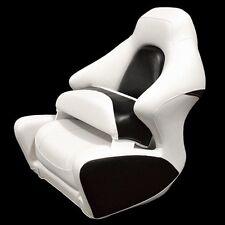 Crownline White Black Marine Boat Captains Bolster Seat Chair (Single)