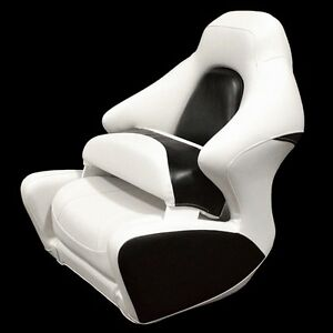 Exceptionnel ... Crownline White Black Marine Boat Captains Bolster Seat