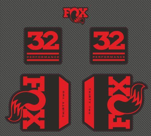 Fox 32 Performance Fork Flotteur Autocollants Décalque Graphique vélo de montagne 2020 rouge