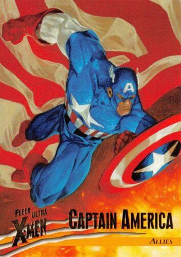1996 Fleer Ultra X-Men Wolverine BASE Trading Card #39 CAPTAIN AMERICA Marvel