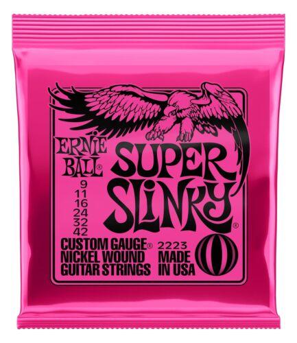 ERNIE BALL SUPER SLINKY 009-042 2223 E-GITARREN SAITEN ELECTRIC GUITAR STRINGS