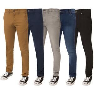 ENZO-Homme-Garcon-Enfants-Skinny-Stretch-Pantalon-Chino-Jeans-Coupe-Slim-Pantalon-Pantalons
