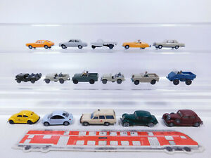 CP264-0,5# 16x Wiking H0/1:87 PKW etc: MB+VW+Land Rover+Ford+Goli etc, 2. Wahl